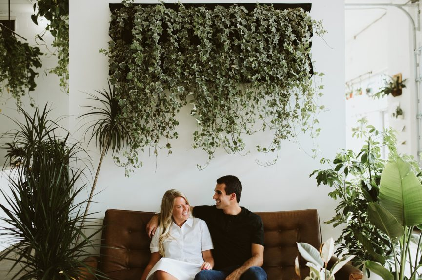 Fern Shop Engagement Session – Haley + Luke